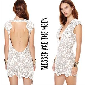 Blessed Are The Meek White Serpent Dress Sz 1